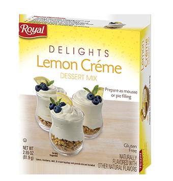 Royal Delights – Lemon Creme Dessert Mix 2.89 oz
