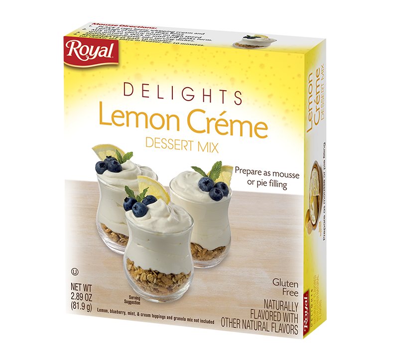 Royal Delights – Lemon Creme Dessert Mix 2.89 oz