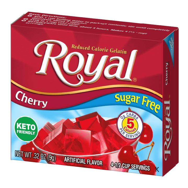 Royal Gelatin – Cherry Sugar Free 0.32 oz