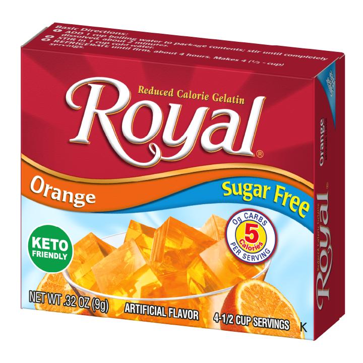 Royal Gelatin – Orange Sugar Free 0.32 oz