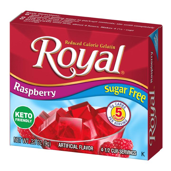 Royal Gelatin – Raspberry Sugar Free 0.32 oz