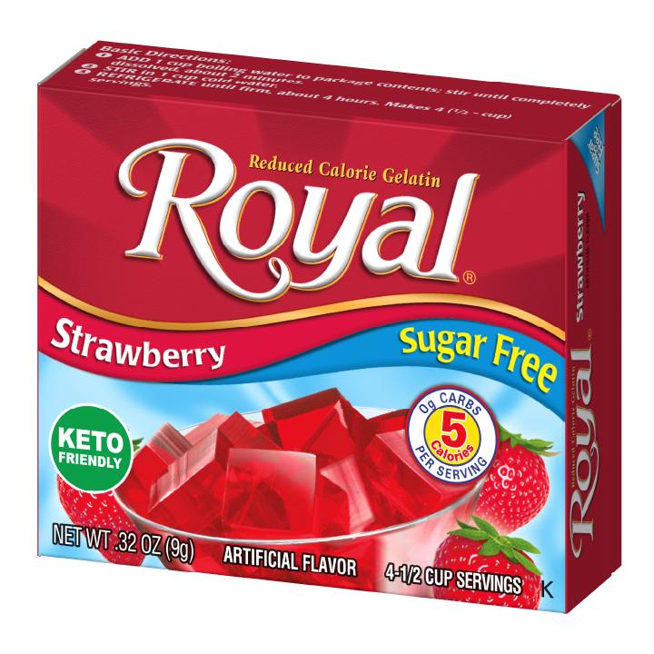 Royal Gelatin – Strawberry Sugar Free 0.32 oz