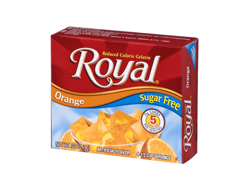 Royal Gelatin – Orange Sugar Free 0.32 oz