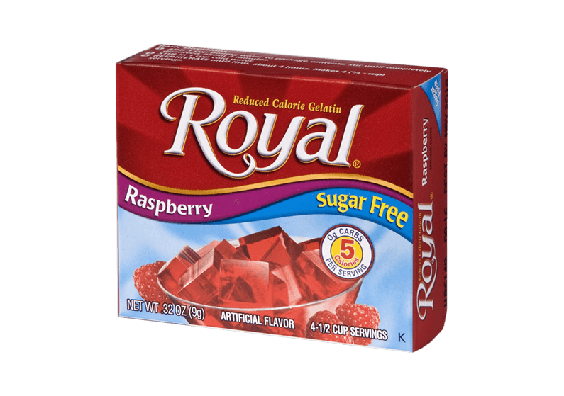 Royal Gelatin – Raspberry Sugar Free 0.32 oz