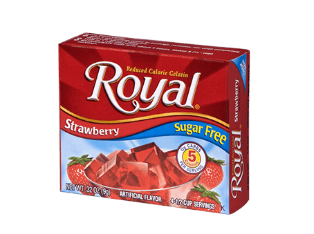 Royal Gelatin – Strawberry Sugar Free 0.32 oz