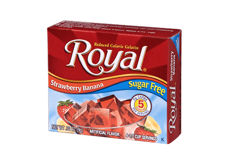 Royal Gelatin – Strawberry Banana Sugar Free 0.32 oz