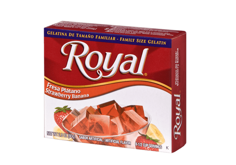 Royal Gelatin – Strawberry Banana 2.8 oz