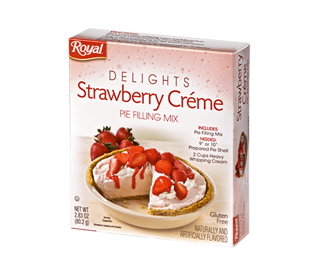 Royal Delights – Strawberry Crème Pie Filling 2.83 oz