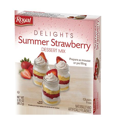 Royal Delights – Summer Strawberry – Dessert Mix 2.83 oz