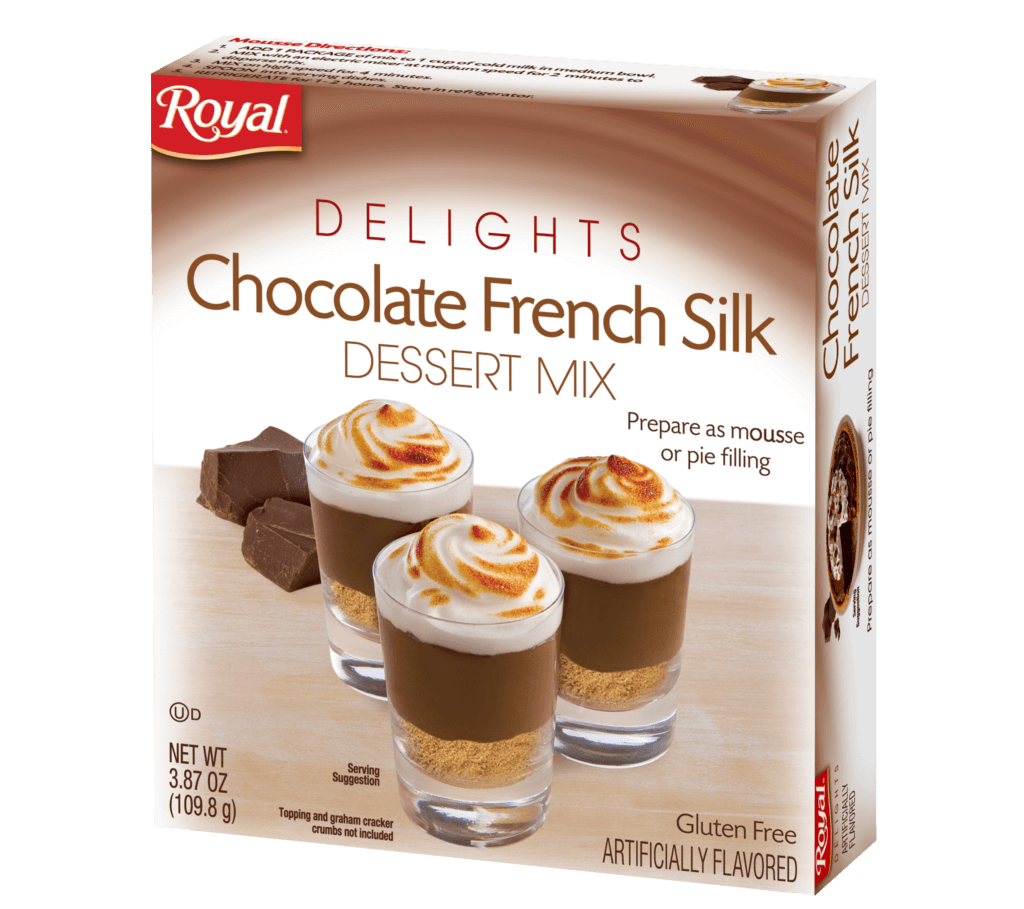 Royal Delights – Chocolate French Silk Dessert Mix 3.87 oz