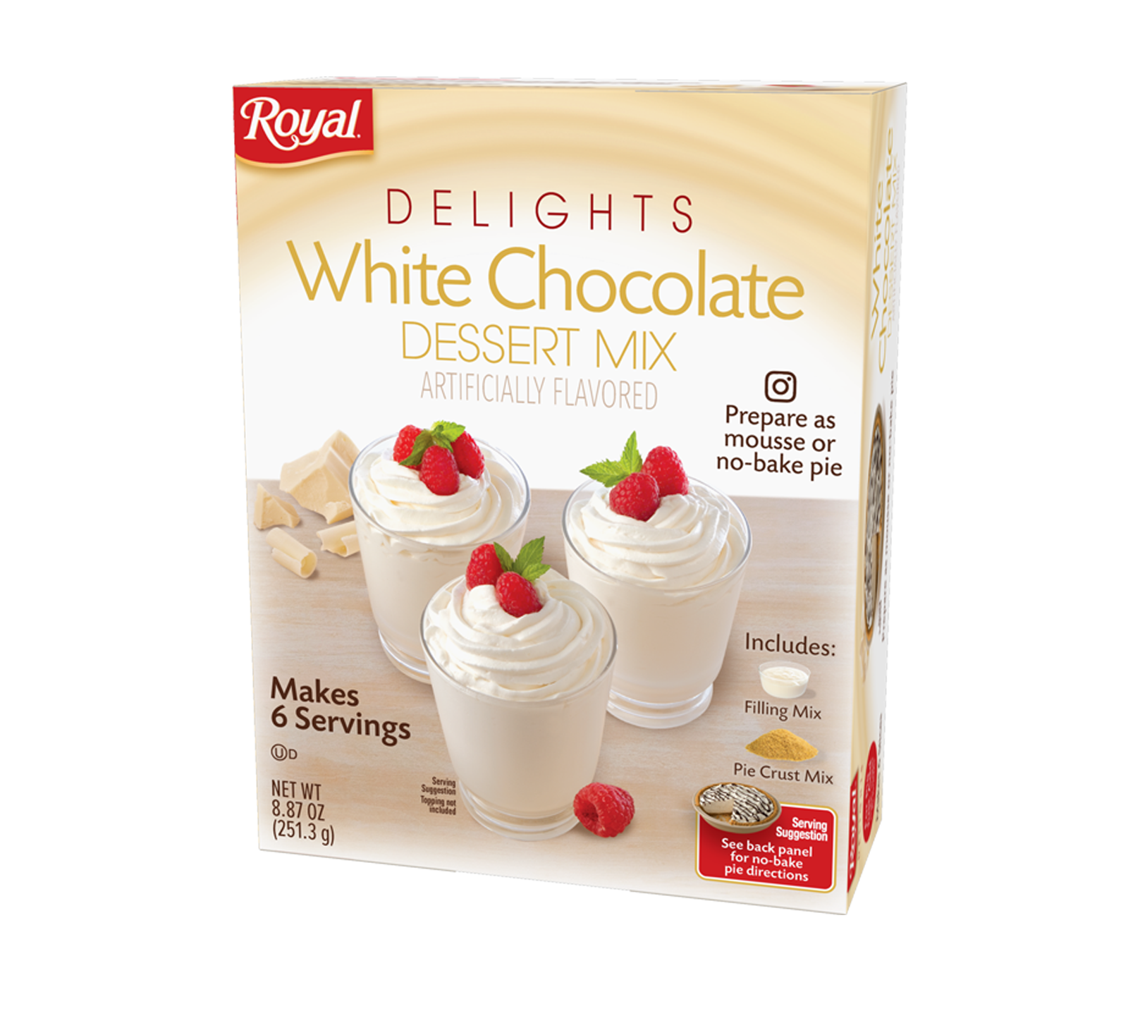 Royal Delights – White Chocolate Dessert Mix 8.87 oz