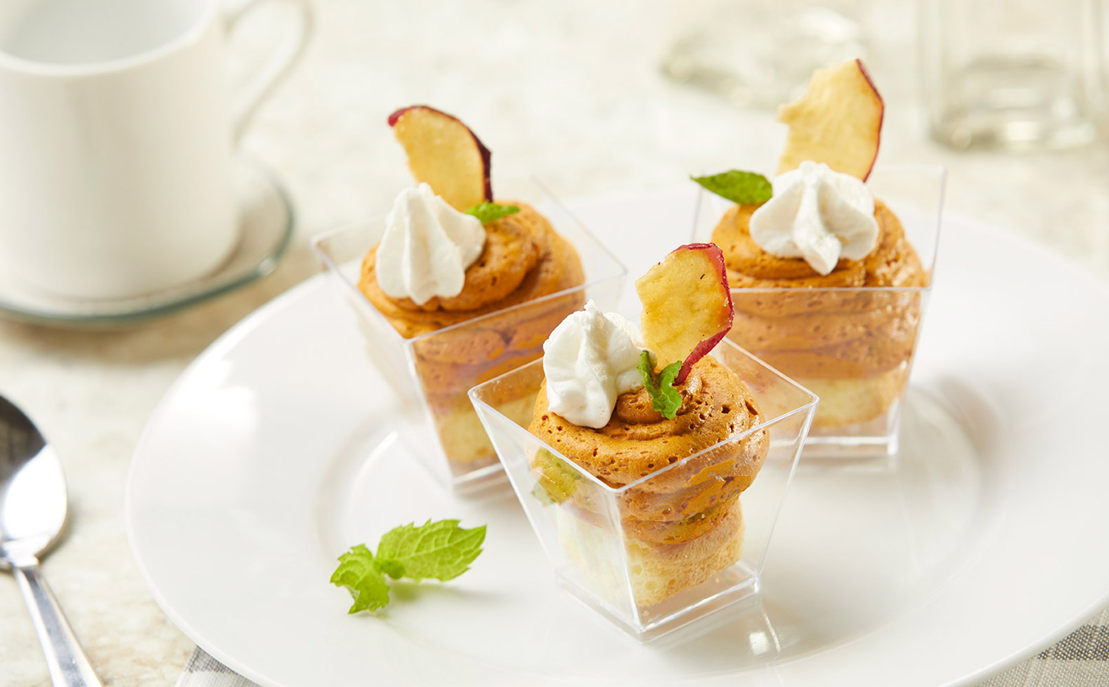 Pumpkin Spice Mousse with Apple Chips