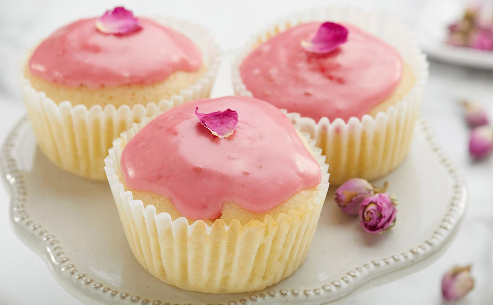 Raspberry Rose Cupcake