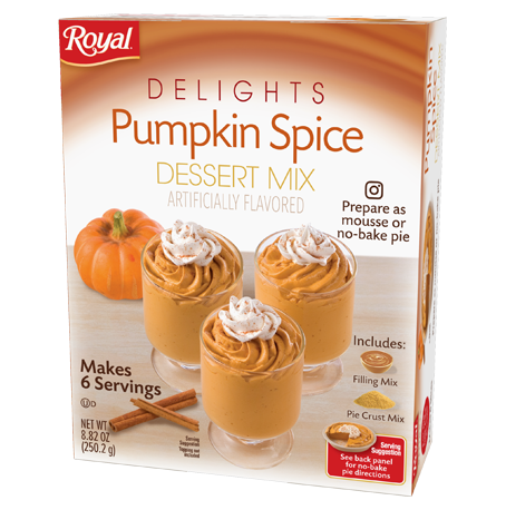 Royal Delights – Pumpkin Spice Dessert Mix 8.82 oz
