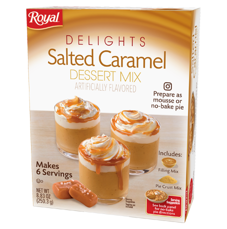 Royal Delights – Salted Caramel Dessert Mix 8.83 oz